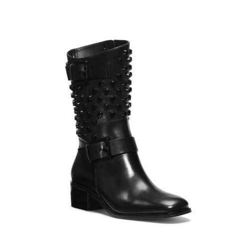 MICHAEL MICHAEL KORS Bryn Studded Leather Boot BLACK