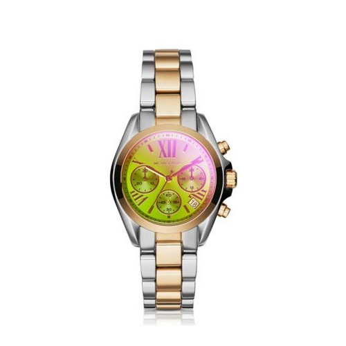 MICHAEL KORS Bradshaw Flash-Lens Two-Tone Watch