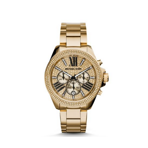MICHAEL KORS Wren Pav Gold-Tone Watch
