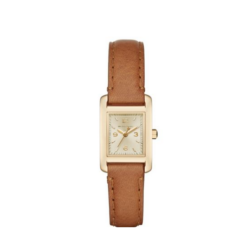 MICHAEL KORS Taylor Gold-Tone And Leather Watch