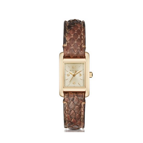 MICHAEL KORS Taylor Gold-Tone And Python Watch