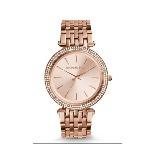 MICHAEL KORS Darci Pav Rose Gold-Tone Watch