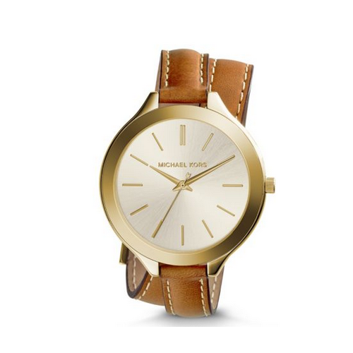 MICHAEL KORS Slim Runway Double-Wrap Watch
