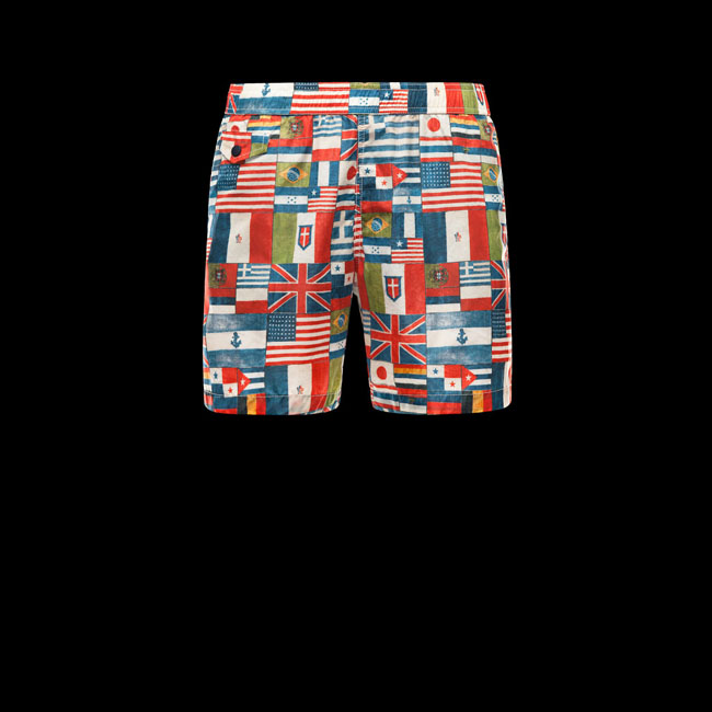 MONCLER MEN GRENOBLE Bermuda trunks RED
