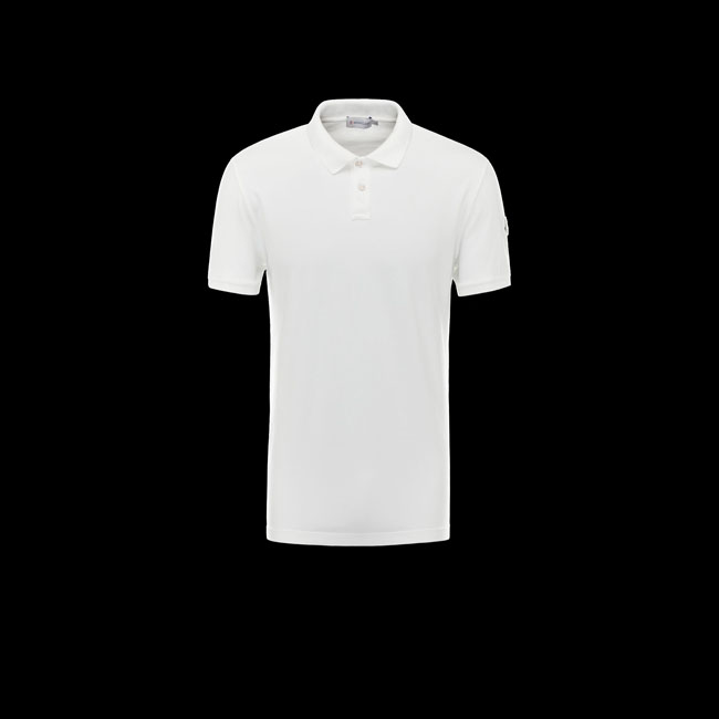 MONCLER MEN Polo sweater WHITE