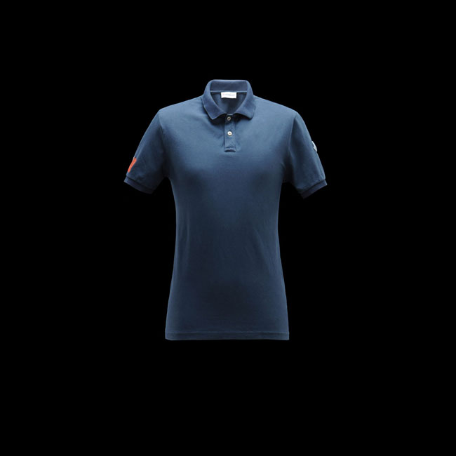 MONCLER MEN Polo sweater SLATE BLUE