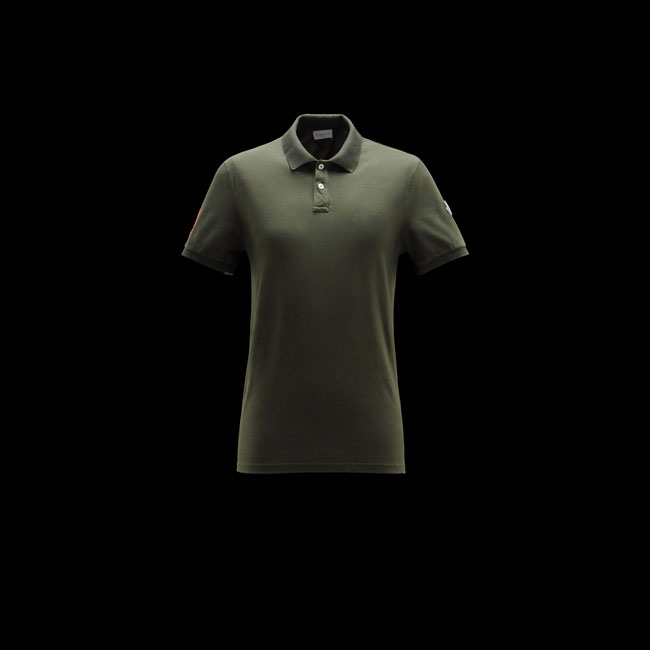 MONCLER MEN Polo sweater MILITARY GREEN