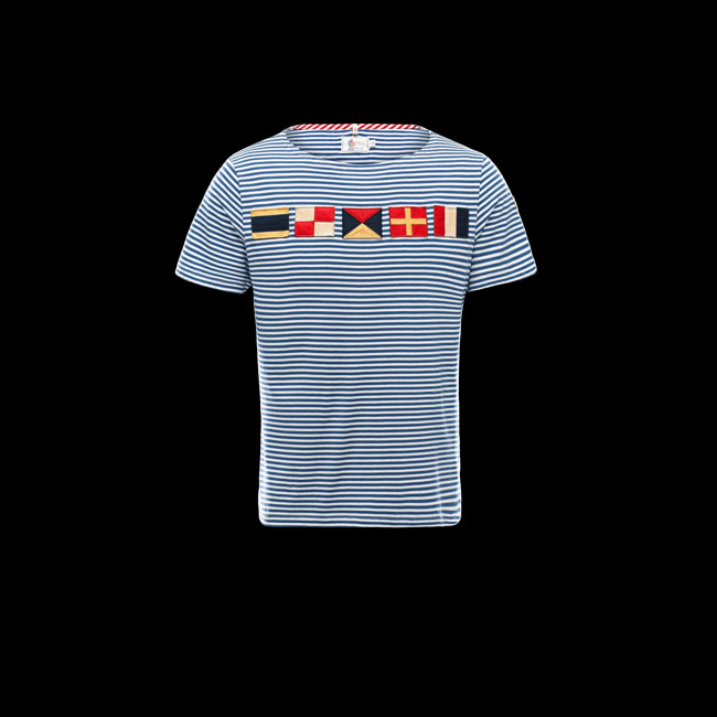 MONCLER MEN GRENOBLE T-SHIRT BLUE