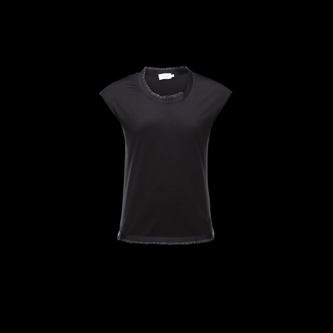 MONCLER WOMEN T-SHIRT BLACK