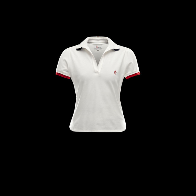 MONCLER WOMEN GRENOBLE Polo shirt IVORY