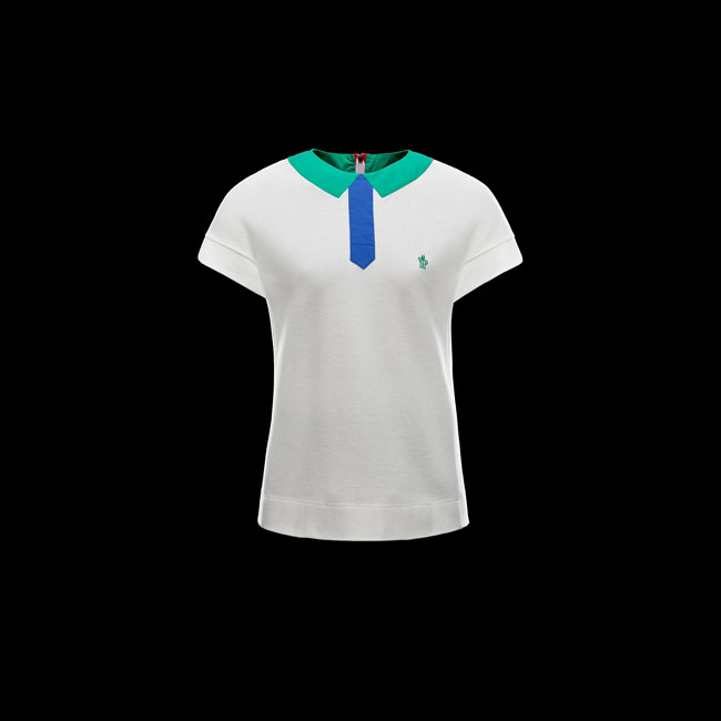 MONCLER WOMEN GRENOBLE Polo shirt WHITE