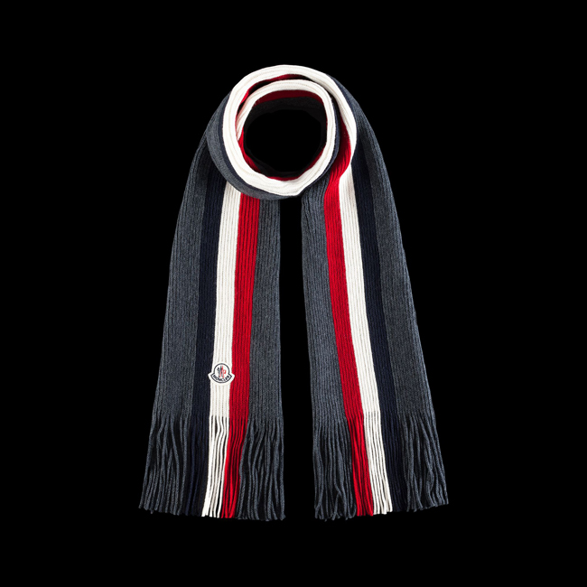 MONCLER MEN Scarf STEEL GREY