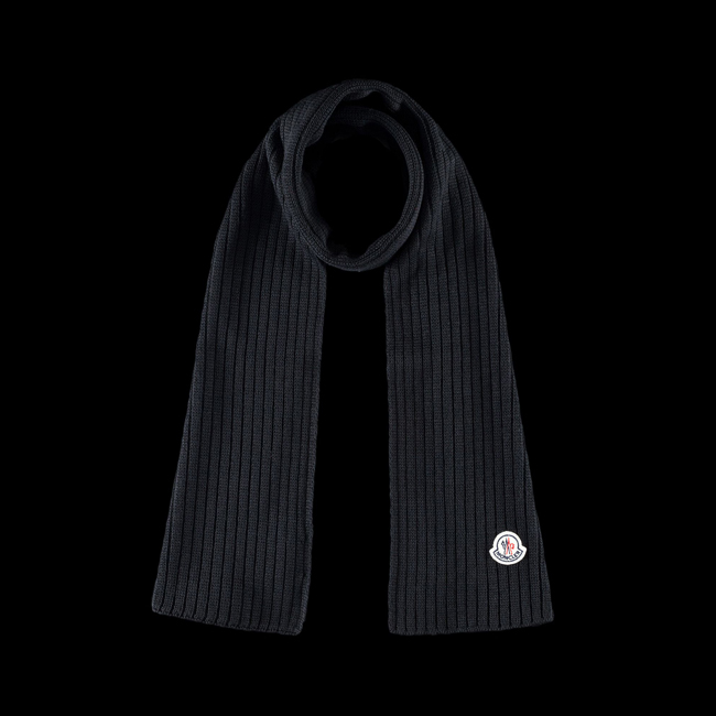 MONCLER MEN Scarf BLACK