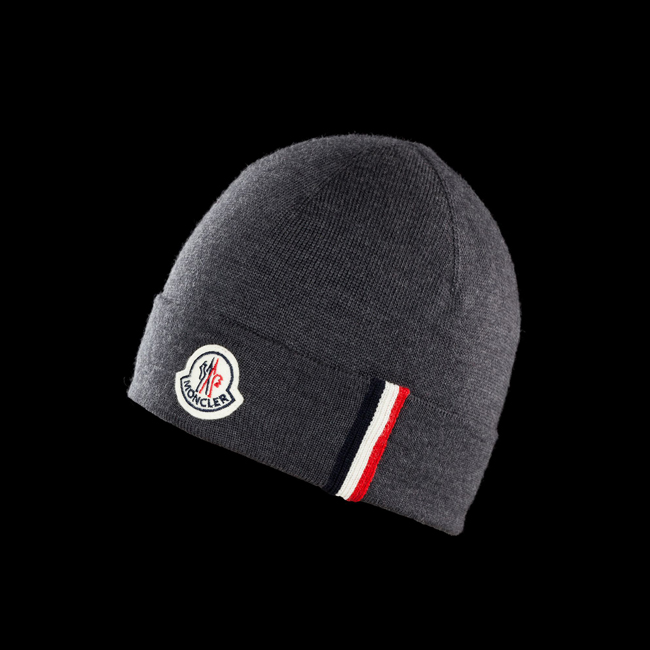 MONCLER MEN Hat STEEL GREY