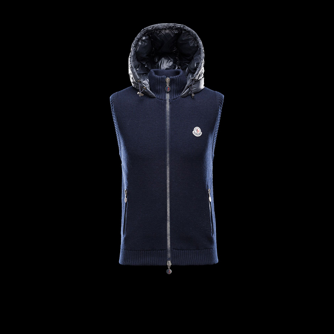 MONCLER MEN Sweater vest BLUE