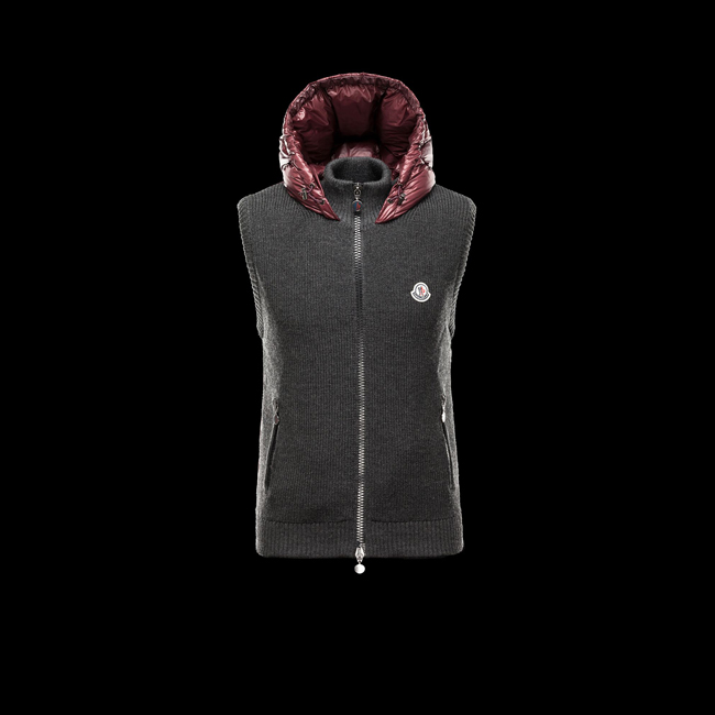 MONCLER MEN Sweater vest STEEL GREY