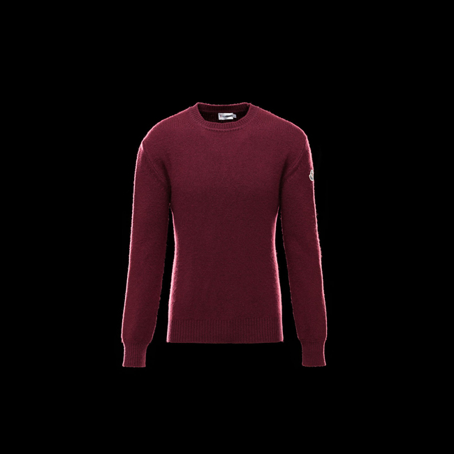 MONCLER MEN Crewneck sweater MAROON