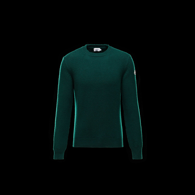 MONCLER MEN Crewneck sweater GREEN