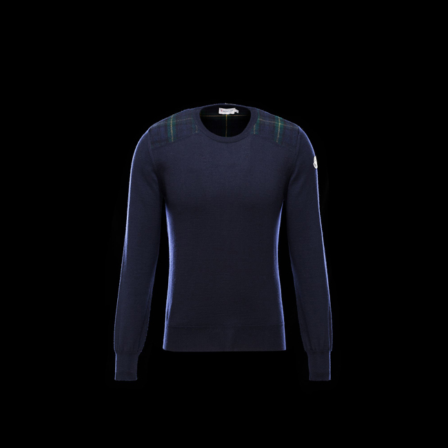 MONCLER MEN Crewneck sweater BLUE