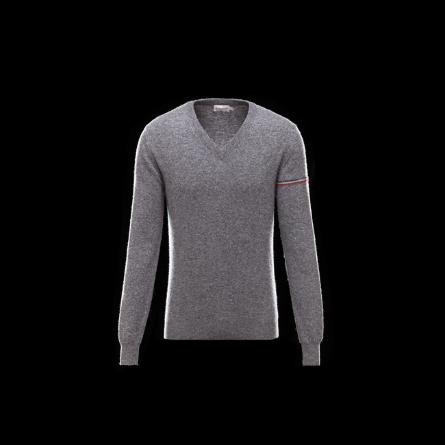 MONCLER MEN V-neck GREY