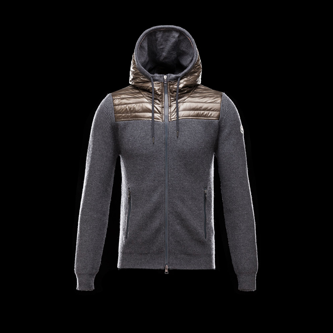 MONCLER MEN Cardigan STEEL GREY