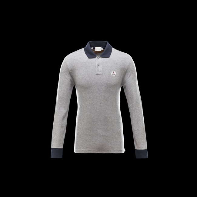 MONCLER MEN Polo shirt LIGHT GREY