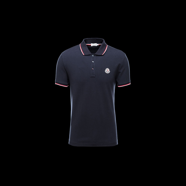 MONCLER MEN Polo shirt BLUE