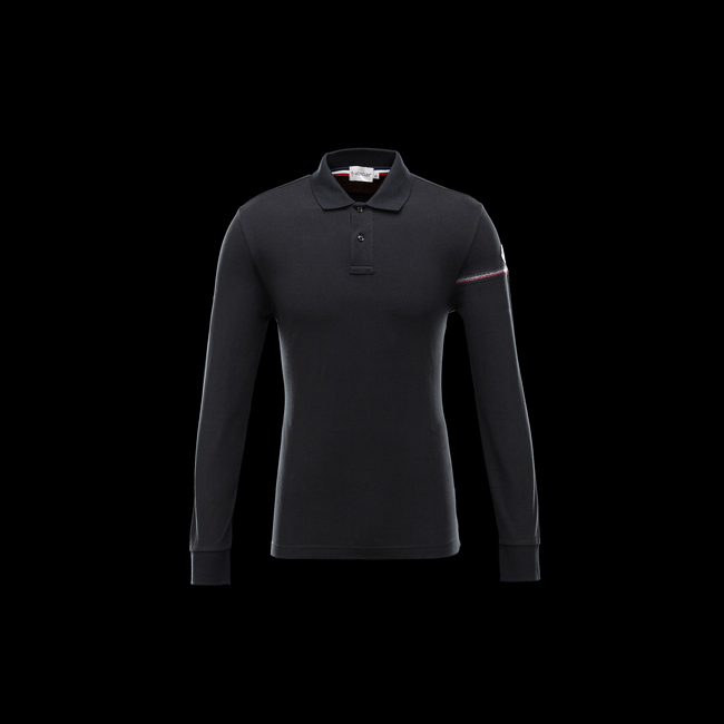 MONCLER MEN Polo shirt BLACK