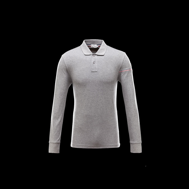 MONCLER MEN Polo shirt GREY