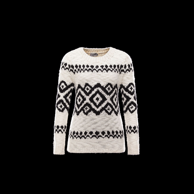 MONCLER WOMEN Long sleeve sweater IVORY