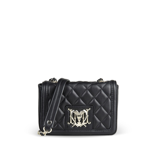 Love Moschino Small leather bag BLACK