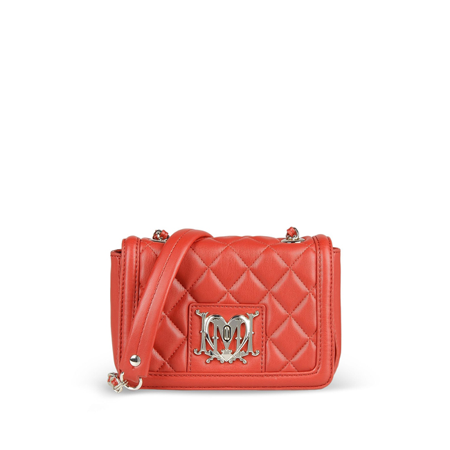 Love Moschino Small leather bag RED