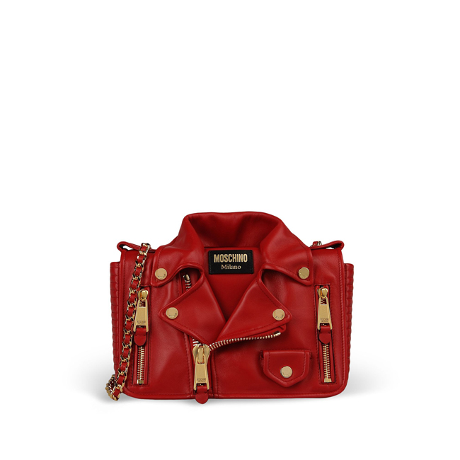 Moschino Medium leather bag RED