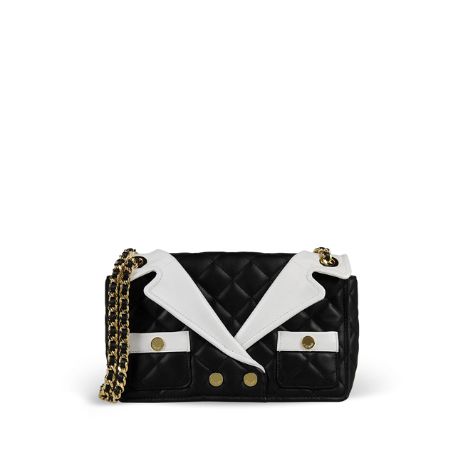 Moschino Medium leather bag BLACK
