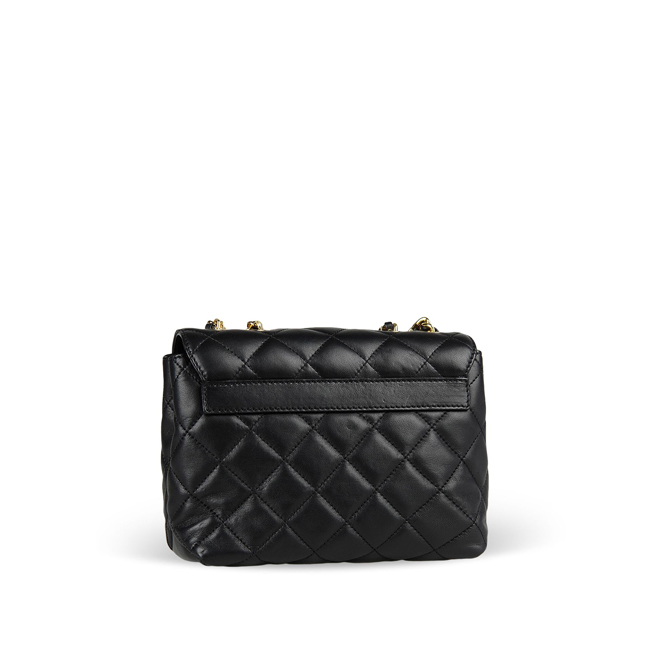 Moschino Small leather bag BLACK