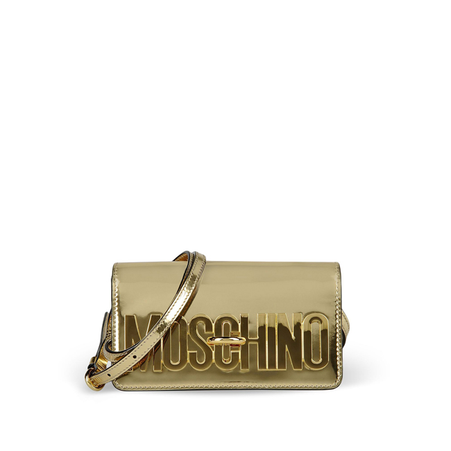 Moschino Medium leather bag GOLD