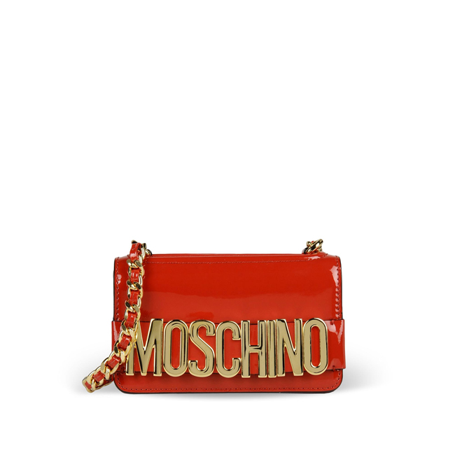 Moschino Small leather bag RED