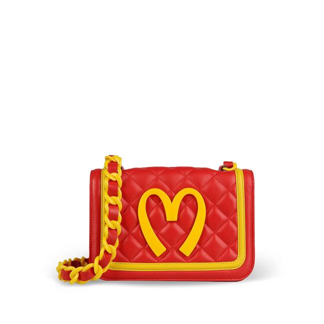 Moschino Medium leather bag Runway Capsule Collection – FW 14 Preview RED