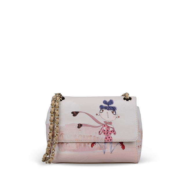 Love Moschino Small fabric bag IVORY