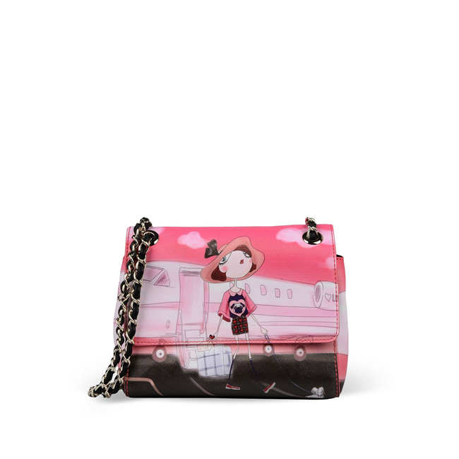 Love Moschino Small fabric bag PINK