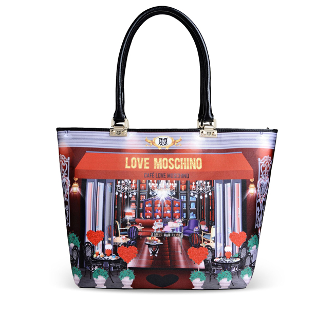 Love Moschino Large fabric bag RED