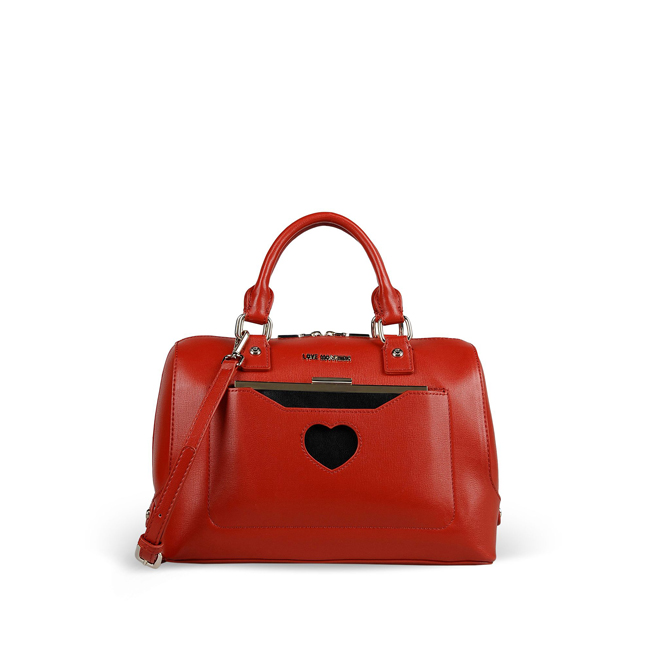 Love Moschino Medium fabric bag RED
