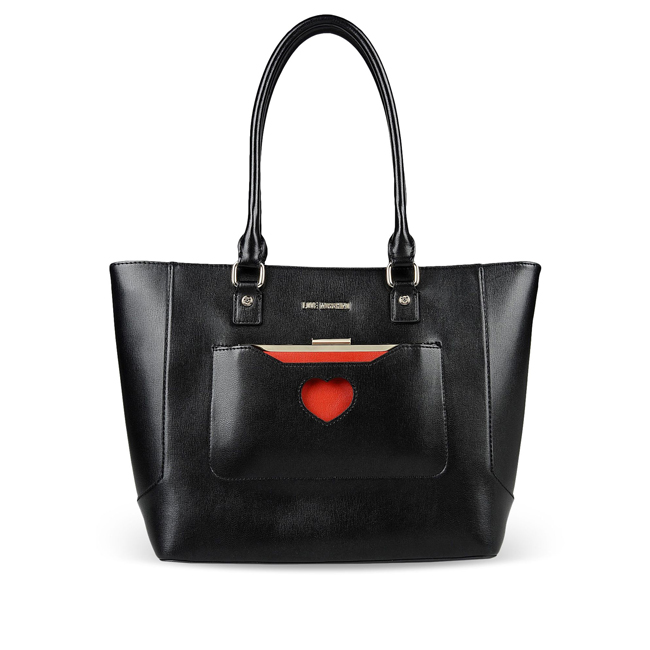 Love Moschino Large fabric bag BLACK