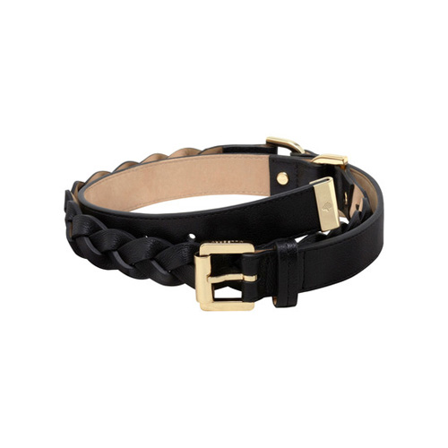 Mulberry Women's Braided Belt Black Soft Buffalo