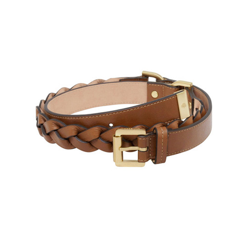 Mulberry Women's Braided Belt Oak Soft Buffalo