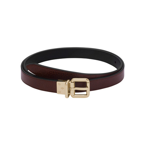Mulberry Reversible Belt Oxblood & Black Natural Leather