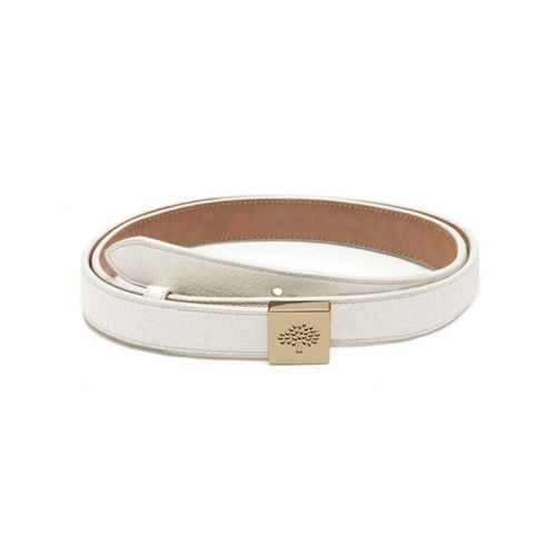 Mulberry Tessie Belt Cream Soft Small Grain
