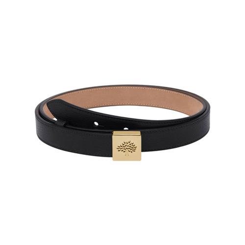 Mulberry Tessie Belt Black Soft Small Grain