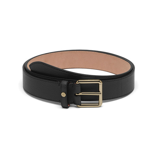 Mulberry 30mm Belt Black Glossy Goat