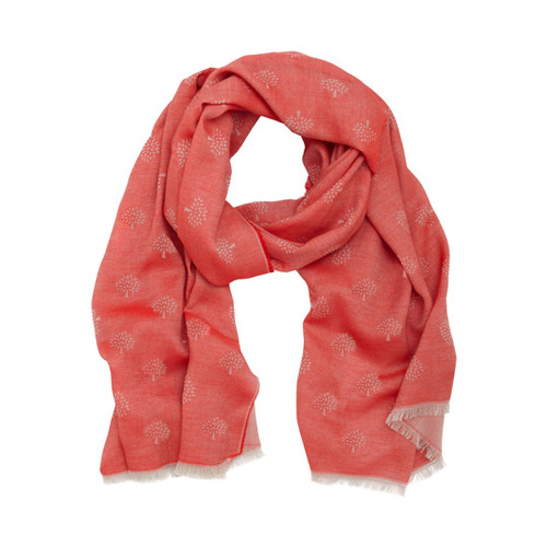Mulberry Tamara Scarf Bright Red Cotton